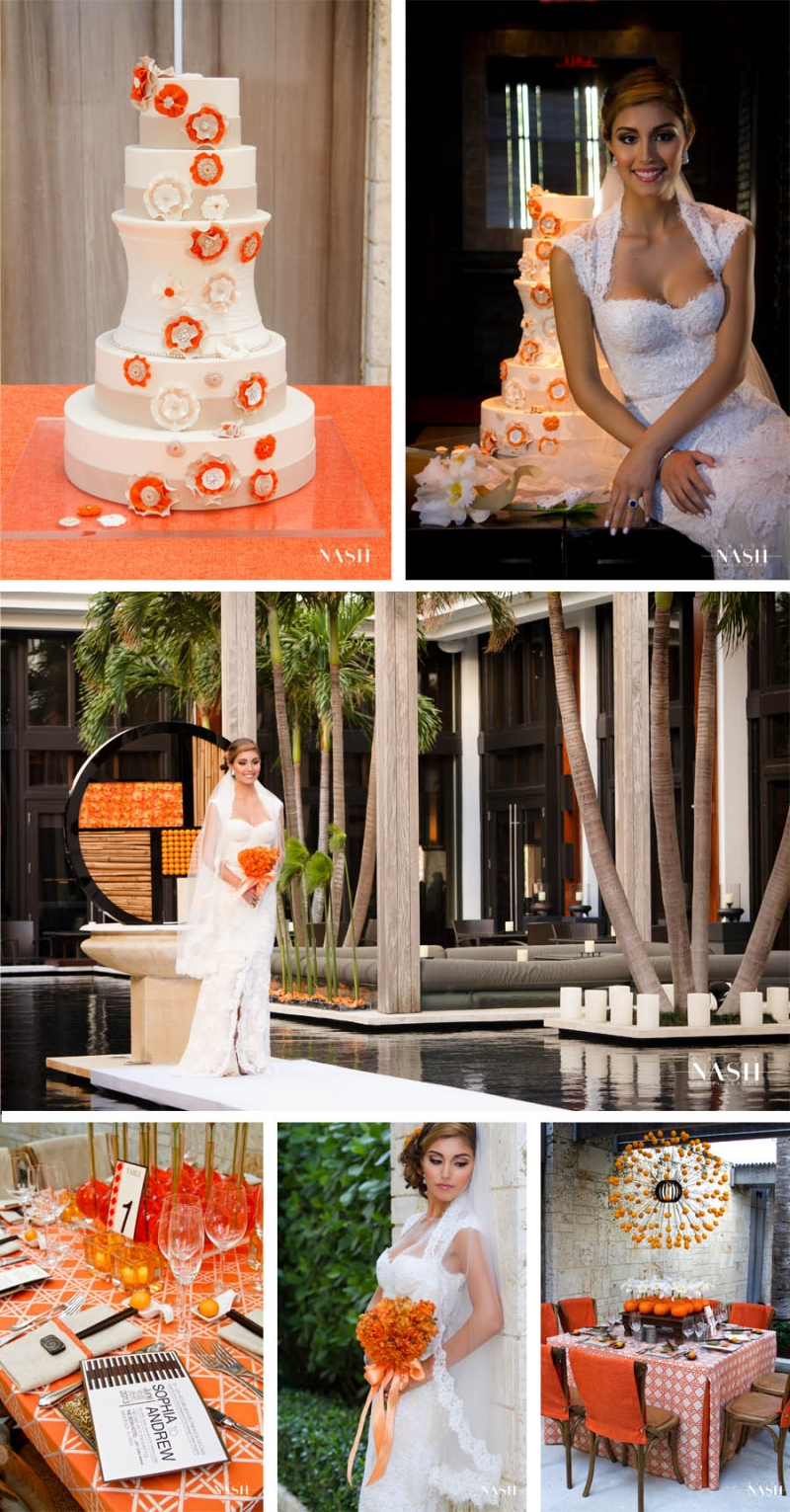 wedding cakes  Magazine Shoot with Modern Luxury Brides & Patty Nash Photography