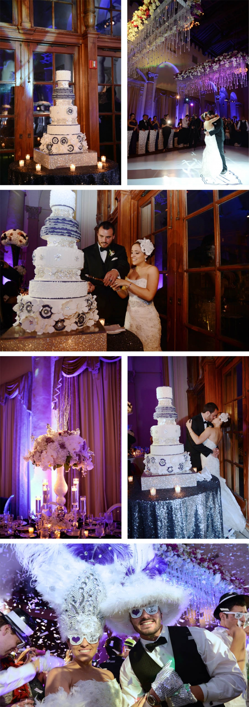 Stef Farrah Jess & Chris | Biltmore Hotel |Custom Wedding Cake