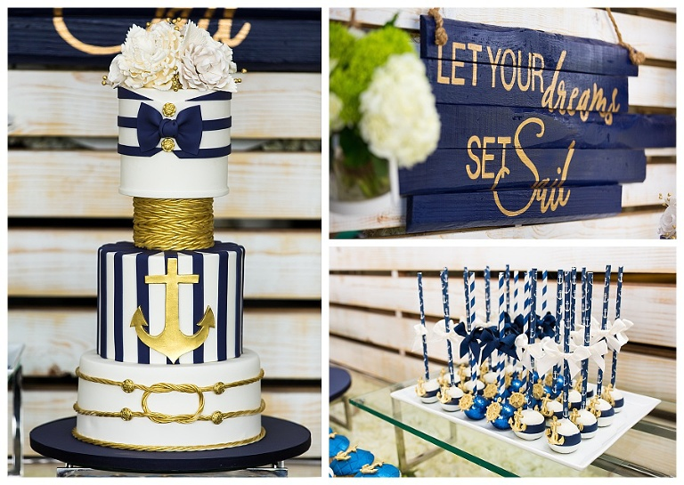Custom Nautical Cake created for Ivan Baptism in Miami Florida