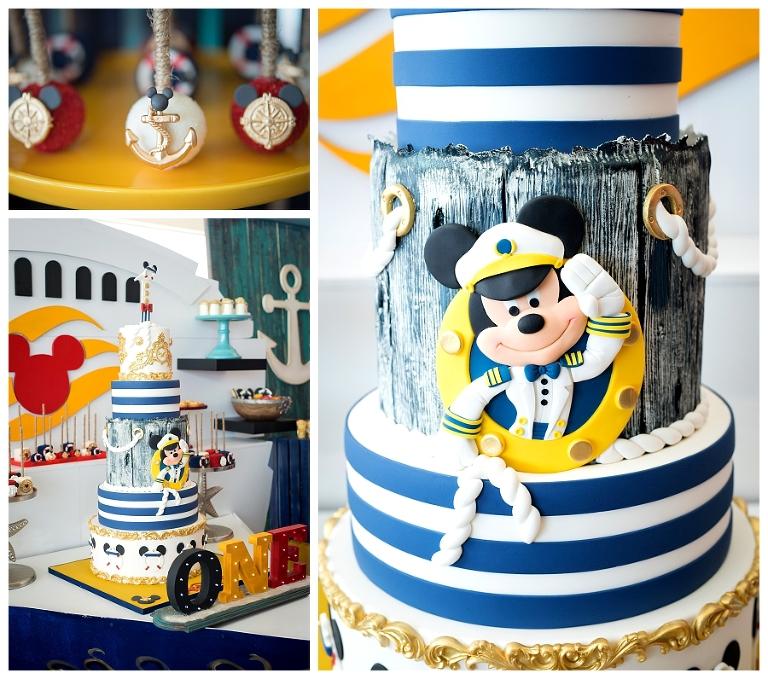 Jaydens 1st Birthday Cake Nautical Mickey