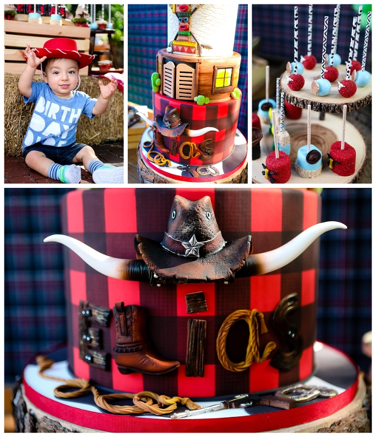 Eliass 1st Birthday Cake Cowboys And Indians