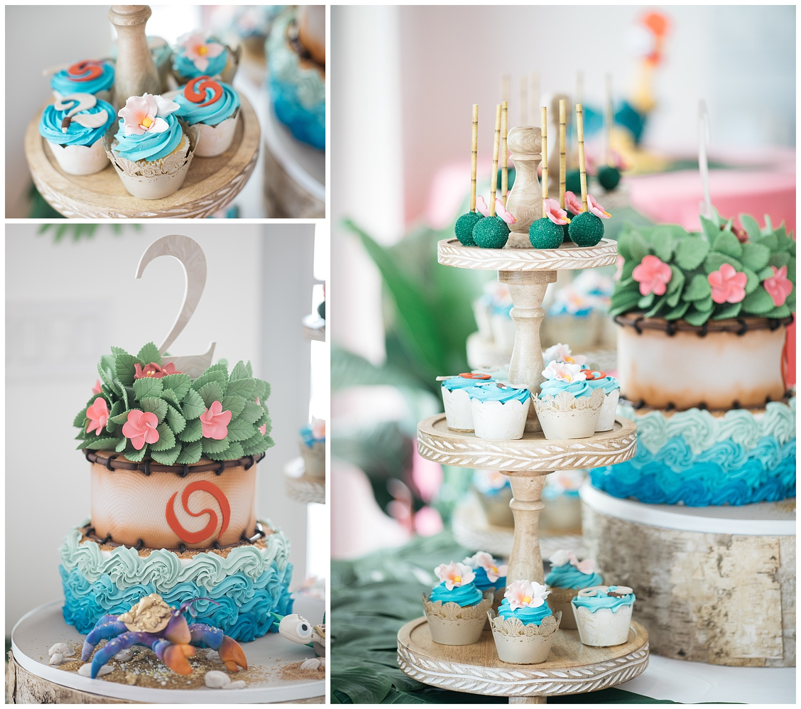 Ellies Moana Birthday Cake Smash Cake Miami Custom Cakes