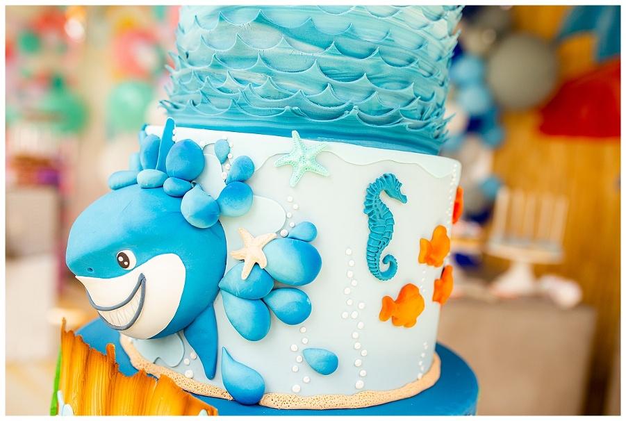 Shark And Mermaid Birthday Cakes